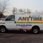 rockaway borough step one signs design and install Anytime_vehicle_graphics_plumber truck