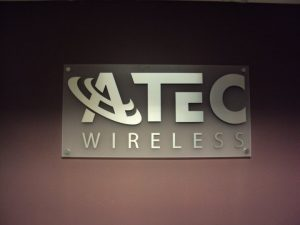 step one signs morris plains nj atec wireless standoff sign dimensional lettering metal finish
