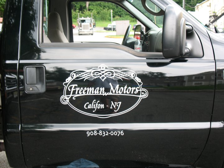 long valley nj freeman motors vehicle lettering and design step one signs randolph nj