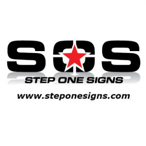 Step One Signs Logo with web address